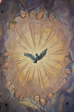 Biblical fresco. Detail of the biblical fresco of the Karlskirche in Vienna Royalty Free Stock Images
