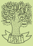 Biblical illustration from the new Testament fruit of the spirit. Stock Photo