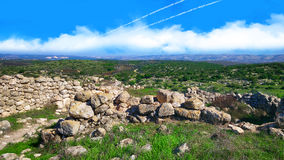 A Biblical landscape. Ancient ruins in Adulam Park of Israel. A Biblical landscape Royalty Free Stock Images