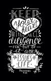 Biblical lettering Keep your heart.