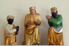 Biblical Magi. The holy three biblical kings Stock Photo