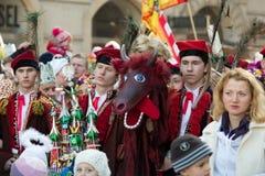 Biblical Magi Three Wise Men parade Stock Images