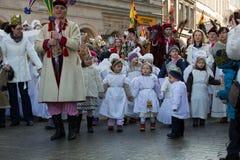 Biblical Magi Three Wise Men parade Royalty Free Stock Image