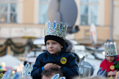 Biblical Magi Three Wise Men parade Royalty Free Stock Photo