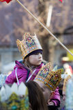 Biblical Magi Three Wise Men parade Stock Images