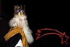 Biblical Magi white king Stock Photography