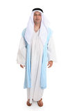 Biblical man. Man in ancient clothing reminiscent that worn of biblical times. He is wearing a robe (thobe) and cloak, headdress and leather sandals   Variations Royalty Free Stock Photography
