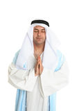 Biblical man in praying. Biblical or middle eastern man in silent prayer Royalty Free Stock Photos