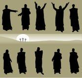 Biblical Men. Ten Biblical Men Apostles in different poses Royalty Free Stock Photography
