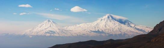 Biblical Mt. Ararat. Amazing panorama shot of Ararat Mountain Royalty Free Stock Photography