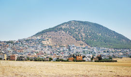 Biblical place of Israel: mount Tabor Royalty Free Stock Photo