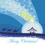 Biblical scene - birth of Jesus in Bethlehem. Stock Photography
