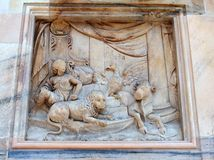 Biblical Sculpture, Milan Cathedral, Italy Royalty Free Stock Photos