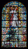 Biblical stained glass. With Jesus Stock Image