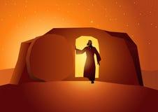 Resurrection of Jesus. Biblical vector illustration series, the resurrection of Jesus or resurrection of Christ stock illustration