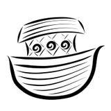 Biblii arka dla salwowania, czerń wzór, chrześcijaństwo ilustracja wektor