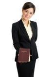 biblii biznesowa mienia kobieta Zdjęcia Stock