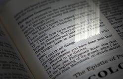 biblii chrześcijanina werset zdjęcie royalty free