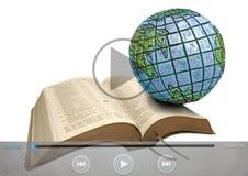 Biblii kaznodziejstwa teledyska globalne ikony ilustracja wektor