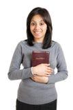 biblii oddania mienie pokazywać kobiety potomstwa Fotografia Royalty Free