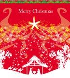 Biblijna scena - narodziny Jezus w Betlejem Obrazy Stock