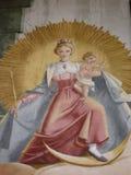 Biblijnej sztuki metaforyka Chrześcijańska madonna i dziecko Fotografia Stock