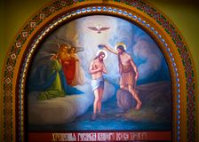 Biblijni obrazy w świątyni Bukovina w Ukraina Obraz Stock