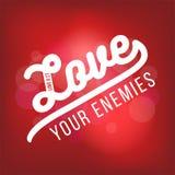 Biblijny święte pisma werset od Luke, kocha twój wrogów Dla use jak ilustracji