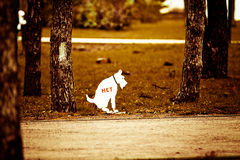 Bibliography on rules of conduct in the Park. Bibliography on rules of conduct in the Park while walking with a dog Royalty Free Stock Photo