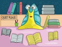 Bibliotecário do caracol ilustração stock