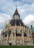 Biblioteca 2008 del parlamento de Ottawa Fotos de archivo