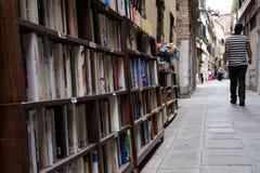 Biblioteca abierta veneciana fotografía de archivo