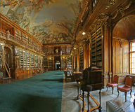 Biblioteca barroca Imagenes de archivo