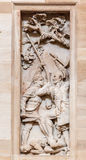 Biblioteca Bas Relief Washington del congresso Fotografie Stock