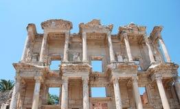 Biblioteca Célsio em Efesus perto de Izmir, Turquia Fotografia de Stock
