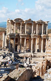 Biblioteca Célsio em Ephesus, Izmir, Turquia, Médio Oriente Fotos de Stock
