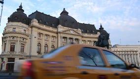 Biblioteca central de la universidad en Bucarest, Rumania Fotos de archivo libres de regalías