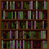 Biblioteca completamente de livros velhos Fotos de Stock