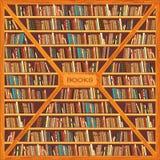 Biblioteca completamente dos livros Imagem de Stock