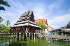 A biblioteca da escritura ou Wat Thung Si Muang budista, Ubon Ratch Foto de Stock