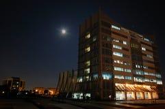 Biblioteca da noite Fotografia de Stock Royalty Free