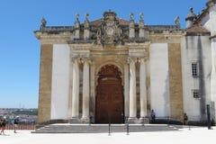 Biblioteca da universidade de Coimbra fotografia de stock