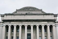 A biblioteca da Universidade de Columbia, em Morningside Heights, Manhattan, New York City imagens de stock royalty free