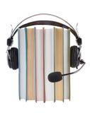 Biblioteca de Audiobooks fotografia de stock royalty free