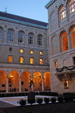 A biblioteca de Boston Public é um dos sistemas de biblioteca pública municipais os maiores no Estados Unidos fotografia de stock