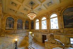 Biblioteca de Boston Public para dentro, Boston, miliampère, EUA Foto de Stock Royalty Free