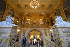 Biblioteca de Boston Public para dentro, Boston, miliampère, EUA Imagem de Stock Royalty Free