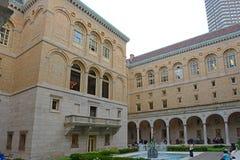 Biblioteca de Boston Public para dentro, Boston, miliampère, EUA Fotos de Stock Royalty Free