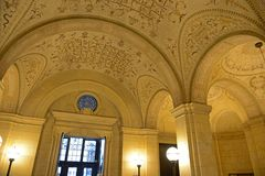 Biblioteca de Boston Public para dentro, Boston, miliampère, EUA Imagens de Stock Royalty Free