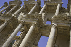 A biblioteca de Celsus fotos de stock royalty free